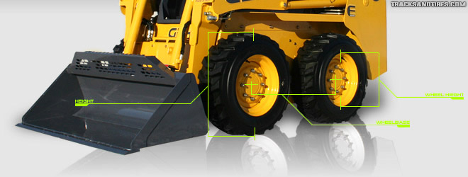 Skid Steer Tire Size | Wheelbase Chart | Tracks and Tires