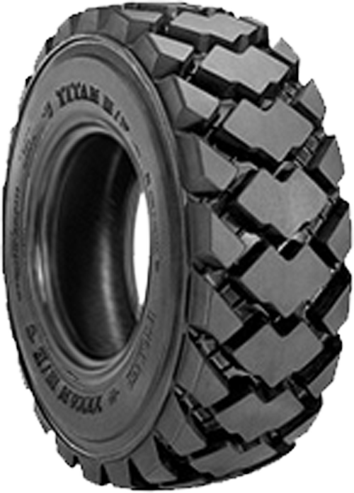 how to cut a loader tire in half