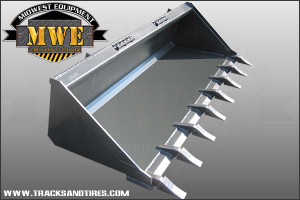 Skid Steer Tooth Bucket