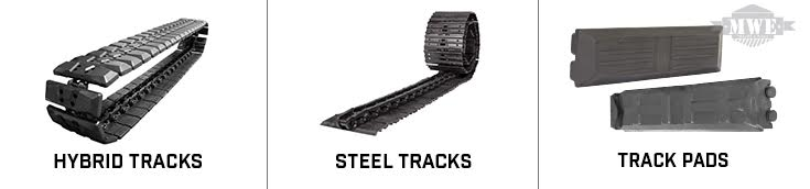 Mini Excavator Steel Tracks, Track Pads, and Hybrid Tracks