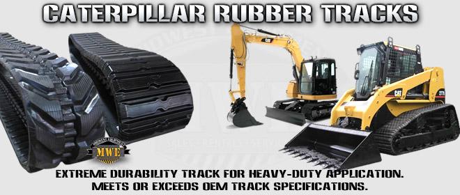 Caterpillar CTL Excavator Rubber Tracks