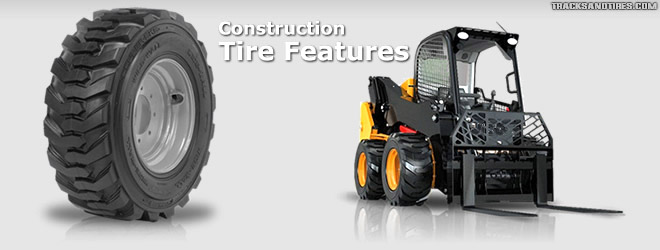 Construction Skid Steer Tire Features