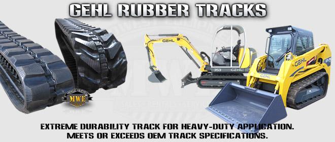 Gehl CTL Excavator Rubber Tracks