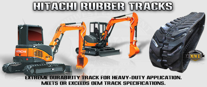 Hitachi Excavator Rubber Tracks