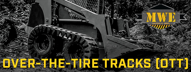 OTT Tracks for Skid Steers - Rubber and Steel