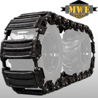 Extreme Duty Steel OTT Tracks (Over-the-Tire) for Skid Steers by MWE