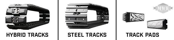 Mini Excavator Hybrid Tracks, Steel Tracks, and Track Pad Systems from MWE