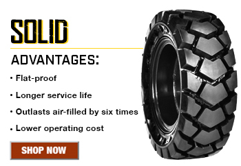Solid Rubber Tires for Skid Steers