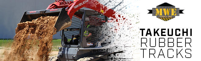 Takeuchi CTL & Excavator Rubber Tracks